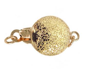 Fermoir Stardust, or jaune 18cts (forme boule granulée)