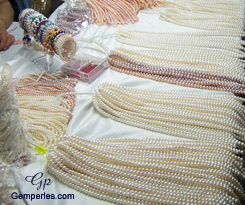 Perles de culture d'eau douce roses, blanches et noires, qualité AAA