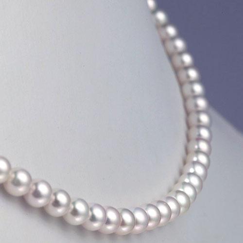 Collier perles de mer Japon - Perles culture Akoya blanches - 5.5/6mm