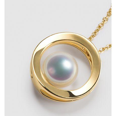 Pendentif perle Akoya - Himiko - Perle du Japon, Or jaune
