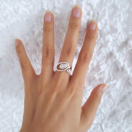 Bague Love - Bague moderne en or blanc - 45 Diamants de 0.283ct
