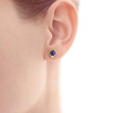 Boucle d oreille Saphir, Diamant & or jaune - Tempietto