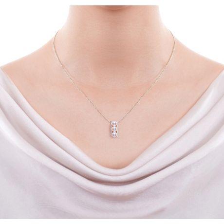 BIjoux pendentif et boucles géométriques. Or jaune, perles Akoya