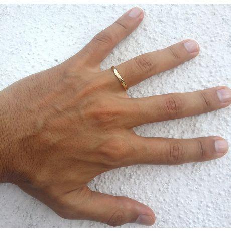 Alliance mariage - Alliance Homme - Anneau or jaune 18 carats
