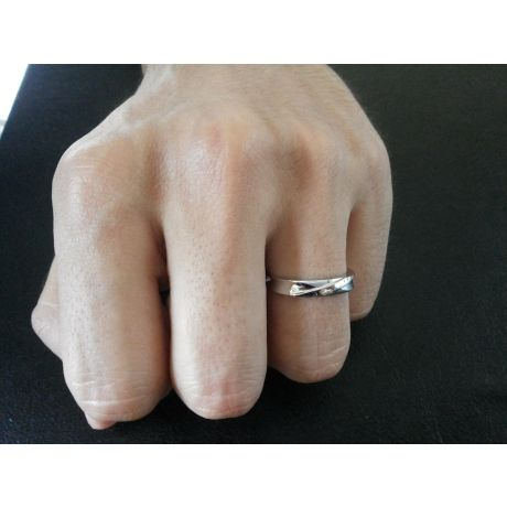 Alliance Homme. Platine. Diamant 0.007ct