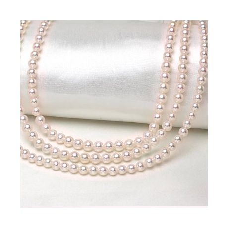 Collier 3 rangs - Perle Akoya du Japon - Perles blanches - 4.5/5mm