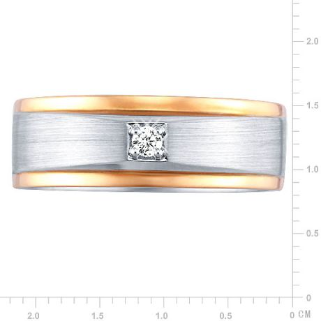 Bague Homme. 2 Ors. Diamants 0.045ct