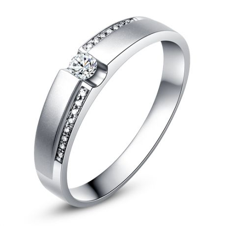 Alliances solitaires or blanc 750/1000 - Bagues Duo diamants