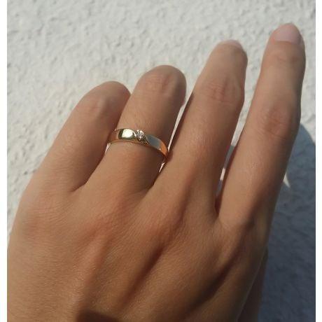 Alliances mariage en or - Alliances Duo - Or jaune 18 carats - Diamant