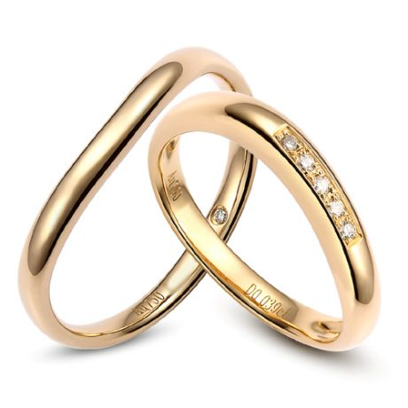 Alliance Homme - Or jaune 2.50gr - Diamant 0.011ct
