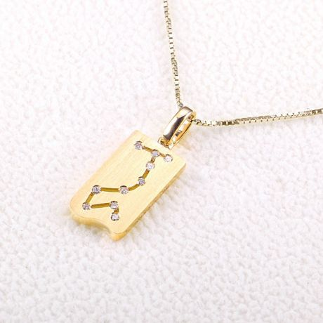 Pendentif zodiaque scorpion or jaune - Constellation - Diamants
