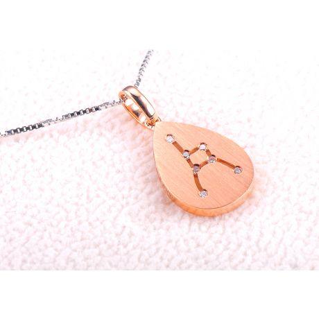 Pendentif astrologique - Constellation du cancer - Or rose, diamants
