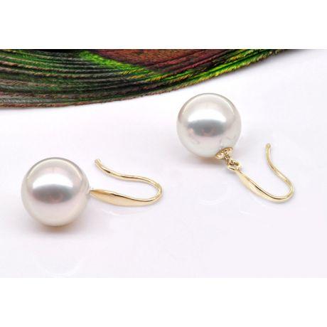 Boucles d'oreilles perles - Perle de culture - Akoya - Or jaune