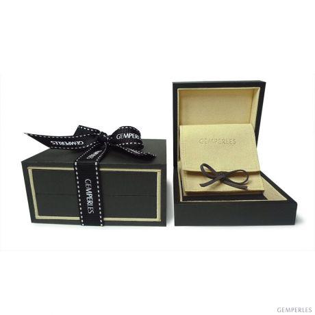 Pendentif perle Akoya du Japon - Perle AAA, or blanc, diamants