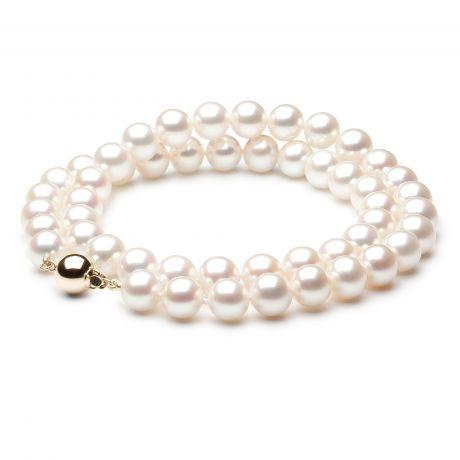 Collier perle mariage - Noces de perles - Perle blanche - 8/8.5mm