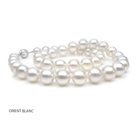 Collier grosse perle - Collier mariage perle blanche - 9.5/10.5mm