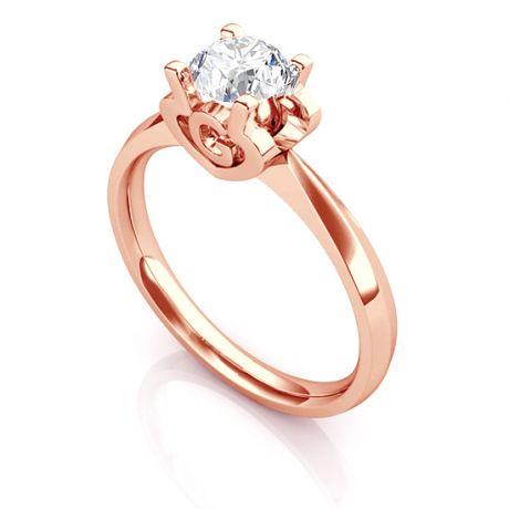 Bague prénom - Lettre G - Diamant, or rose