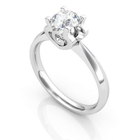 Bague prénom - Lettre G - Diamant, or blanc