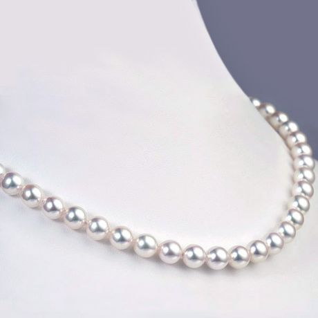 Parure perles Akoya - Colliers et boucles d'oreilles - 6.5/7.5mm