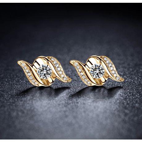 Boucles d'oreilles pendantes. Or jaune Diamants. Carat personnalisable