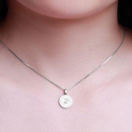 Pendentif Sagittarius Or blanc. Signe du sagittaire. Zodiaque