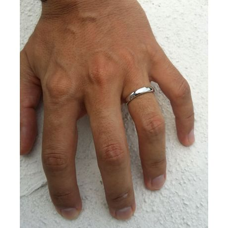 Alliance en or ronde - Alliance Homme Platine - Diamant