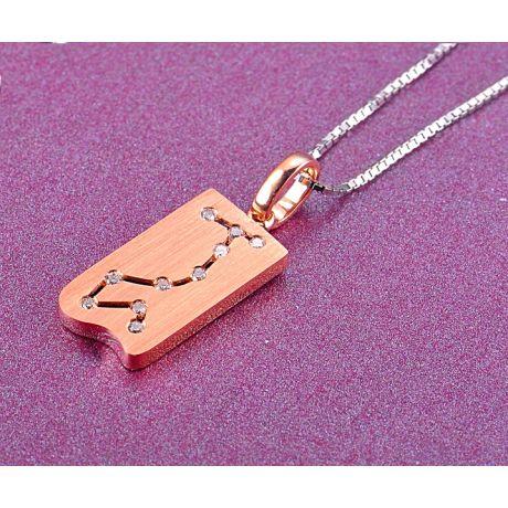 Pendentif zodiaque - Constellation du scorpion - Or rose, diamants