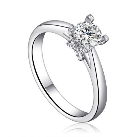 Bague alphabétique - Initiale X - Or blanc, diamants