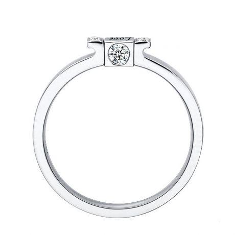 Solitaire pendentif Love - Or blanc, diamant 0.14ct