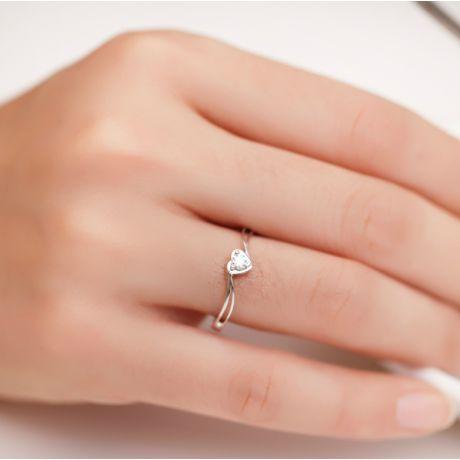 Solitaire diamant or blanc - J'ai dit à mon coeur - Alfred De Musset