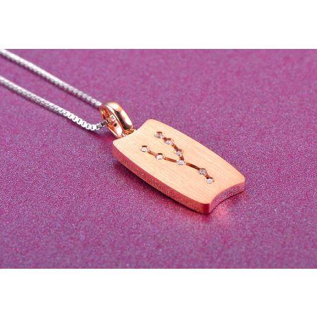 Pendentif astrologique - Constellation du taureau - Or rose, diamants