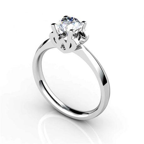 Bague prénom - Lettre W - Diamant, Or blanc