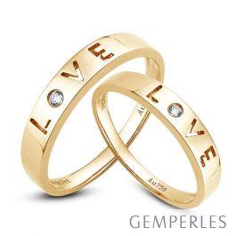 alliances love alliances duo d 39 or jaune diamants. Black Bedroom Furniture Sets. Home Design Ideas