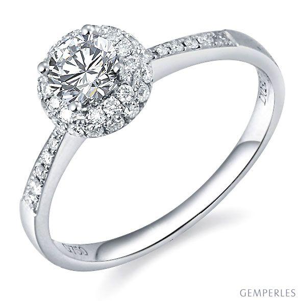 solitaire bague de fiancaille or blanc 18cts 51 diamants. Black Bedroom Furniture Sets. Home Design Ideas