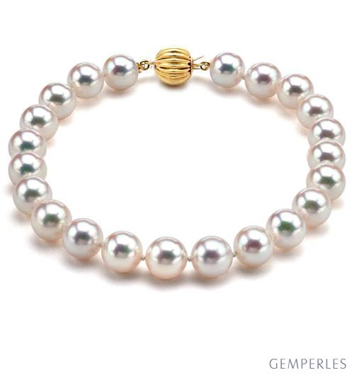 Bracelet Perles Akoya Japon Perle De Culture Eau De Mer 6 5 7mm