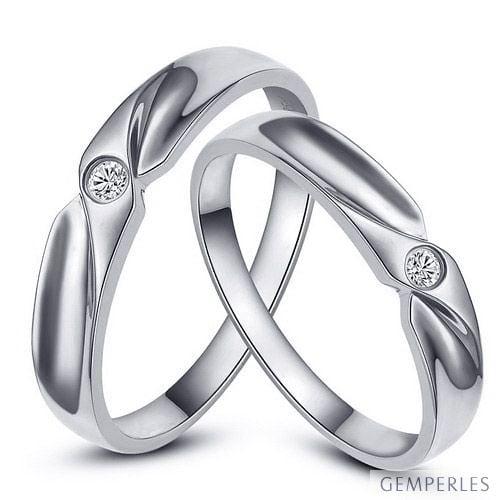 alliance originale or blanc alliance couple diamant. Black Bedroom Furniture Sets. Home Design Ideas