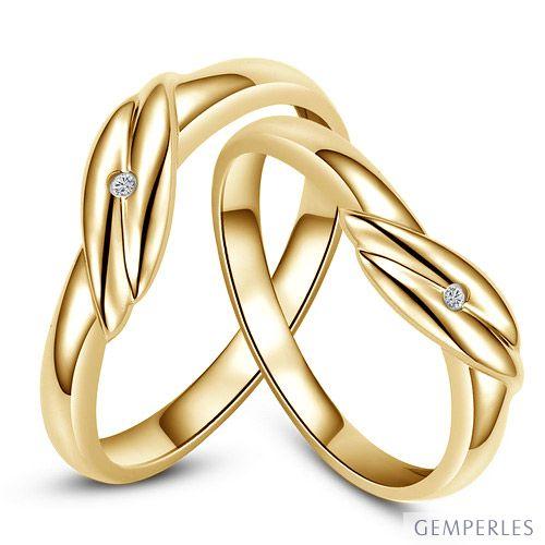 bijoux alliances mariage alliance couple or jaune diamant. Black Bedroom Furniture Sets. Home Design Ideas