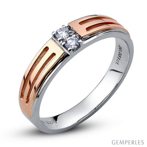 Alliance mariage homme or rose
