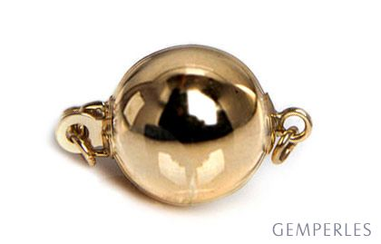 Bolla : Fermoir boule lisse 8mm Or jaune 14cts. Moderne et contemporain