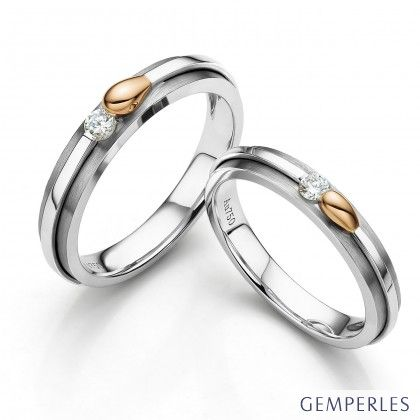 Alliances Couple. 2 Ors. Diamants 0.30ct