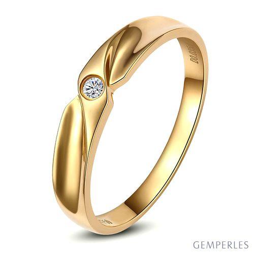 Alliance originale or jaune - Alliance Homme - Diamant