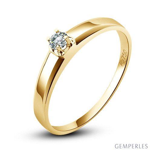 Alliance mariage originale - Alliance Femme - Or jaune - Diamant