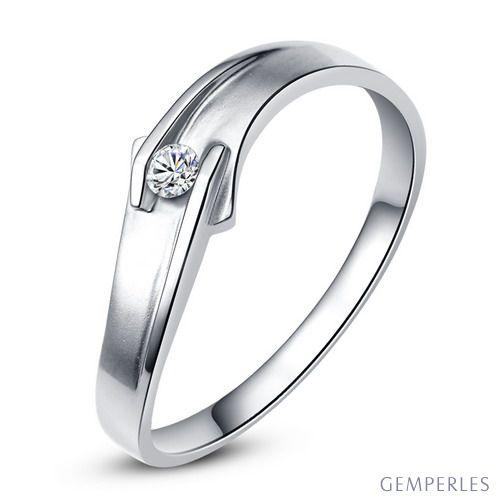 Alliance diamant platine - Alliance Homme