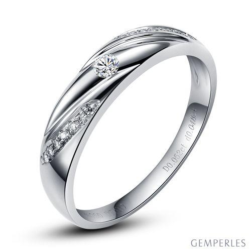 Alliance Étoile - Alliance or blanc diamants - Alliance Homme