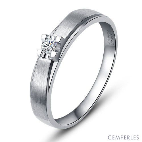Alliance solitaire or - Alliance Femme - Platine - Diamant