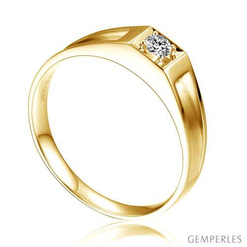 Alliance de type solitaire - Alliance Femme en or jaune et diamant