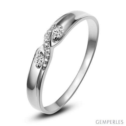 alliance mariage diamants en or blanc pour femme. Black Bedroom Furniture Sets. Home Design Ideas