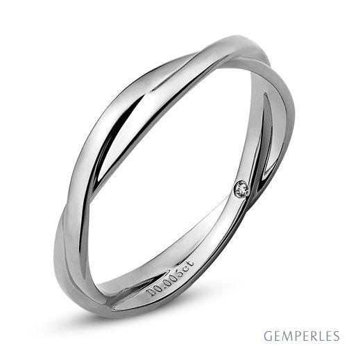 alliance 2 anneaux alliance femme or blanc et diamant. Black Bedroom Furniture Sets. Home Design Ideas