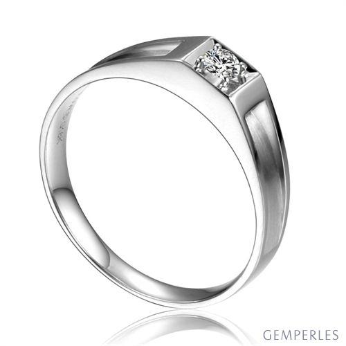 Alliance de type solitaire - Alliance Femme en or blanc et diamant
