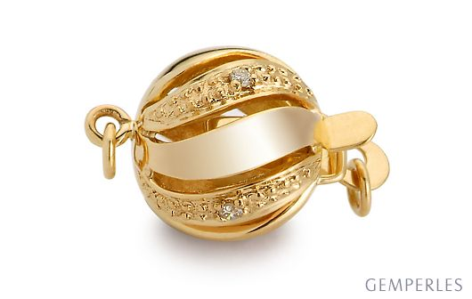 Boule or jaune 18ct diamants-180